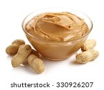 Glass Bowl Of Peanut Butter...