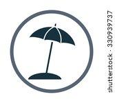 beach umbrella icon | Shutterstock .eps vector #330939737