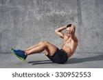 fitness model exercising sit... | Shutterstock . vector #330952553