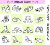 vector graphic set of hand... | Shutterstock .eps vector #330976253