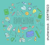 hand drawn vector set with... | Shutterstock .eps vector #330978023