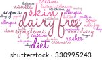 dairy free word cloud on a... | Shutterstock .eps vector #330995243