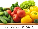 yellow pepper  tomatoes ... | Shutterstock . vector #33104413