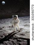 astronaut on lunar  moon ... | Shutterstock . vector #331050773