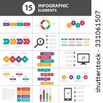 15 multipurpose infographic... | Shutterstock .eps vector #331061507