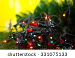 christmas decoration   lights... | Shutterstock . vector #331075133