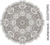 mandala. vintage decorative... | Shutterstock .eps vector #331075493