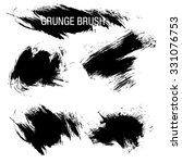 vector set of grunge brush... | Shutterstock .eps vector #331076753