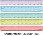 colorful rulers  millimeters ... | Shutterstock .eps vector #331084703