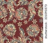 folkloric batik vector ornament.... | Shutterstock .eps vector #331093373