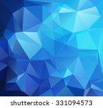blue polygonal mosaic... | Shutterstock .eps vector #331094573
