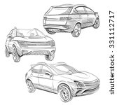 hand drawn sketch car abstract... | Shutterstock .eps vector #331112717