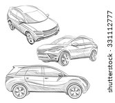 hand drawn sketch car abstract... | Shutterstock .eps vector #331112777