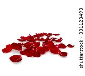 Stock photo petals dark red rose lying on the floor isolated background d render 331123493