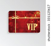vip cards with gold letters and ... | Shutterstock .eps vector #331125617
