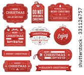 collection of red vector... | Shutterstock .eps vector #331126757