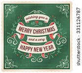 dark green christmas and new... | Shutterstock .eps vector #331126787