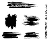vector set of grunge brush... | Shutterstock .eps vector #331127363