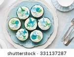 cupcakes decorated with... | Shutterstock . vector #331137287