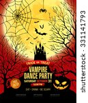 happy halloween. vampire party. ... | Shutterstock .eps vector #331141793