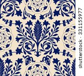 blue and white seamless damask... | Shutterstock .eps vector #331155977