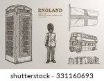 Set Of London.   Hand Drawn In...