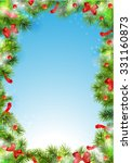 border  frame from christmas... | Shutterstock .eps vector #331160873