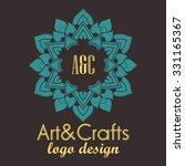 ethnic logotype decorative... | Shutterstock .eps vector #331165367