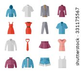 clothes flat icons    | Shutterstock .eps vector #331175567