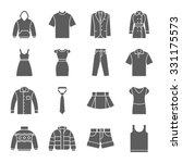 clothes icons  | Shutterstock .eps vector #331175573