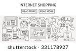 internet online shopping  e... | Shutterstock .eps vector #331178927
