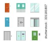 doors for different purposes in ... | Shutterstock .eps vector #331181807