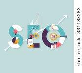 seo concept. flat design. | Shutterstock .eps vector #331183283