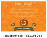 happy halloween poster | Shutterstock .eps vector #331196063