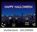 happy halloween theme with... | Shutterstock .eps vector #331198583