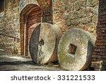 Millstones In San Gimignano ...