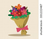 bouquet of flowers flat icon... | Shutterstock .eps vector #331222487