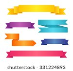 collection of colored ribbon... | Shutterstock .eps vector #331224893
