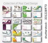 mega collection of postcard... | Shutterstock .eps vector #331228973