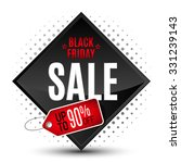 black friday sale. vector... | Shutterstock .eps vector #331239143