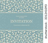 vintage invitation card... | Shutterstock .eps vector #331241093