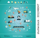 mind map global trading.... | Shutterstock .eps vector #331248047