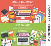 online education  web courses... | Shutterstock . vector #331263077