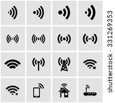 vector black wireless icon set...   Shutterstock .eps vector #331269353