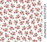 vector christmas flowers... | Shutterstock .eps vector #331274513