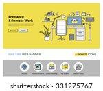 flat line design of web banner... | Shutterstock .eps vector #331275767