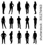 Set Of Trendy People Silhouettes. Vector Image | Shutterstock vector #331276463