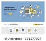 flat line design of web banner... | Shutterstock .eps vector #331277027
