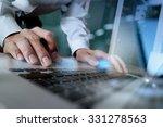 close up of business man hand...   Shutterstock . vector #331278563
