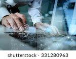 close up of business man hand... | Shutterstock . vector #331280963